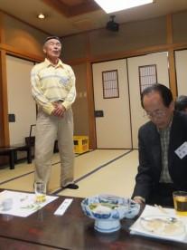 野口さんが江戸時代の民謡を披露