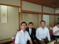 右から幹事の飯島さん、染谷さん、雄賀多さん