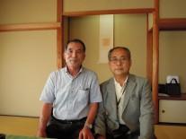 右、三木会長と戸井田事務局長
