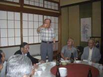 渡邊副会長の乾杯