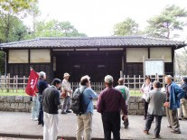 岩槻城城門(黒門)にて
