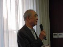 最年長中学47回卒、八潮支部長の小沢正直さん