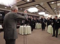村山吉廣(高1回)早大名誉教授の乾杯のご発声|第19回東京春高会にて