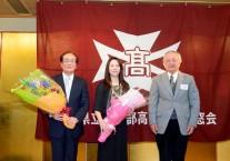 石井さんを囲んで関根さんと新井会長
