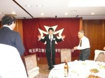 出席者で最も若い慶大生浜田暢康さんによる中締め