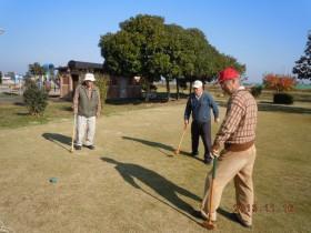 午前中に開催されたグランドゴルフ