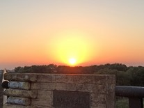 渡良瀬川に掛かる新赤麻橋から見える夕陽
