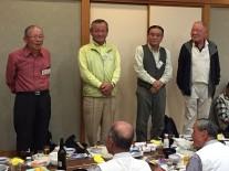 来年の開催地である横浜春高会の青木会長以下4名の皆さん