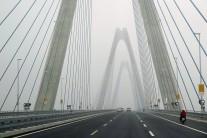【写真1】住友建設が造った巨大な吊橋