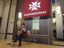 竹内君のクラシックギター演奏