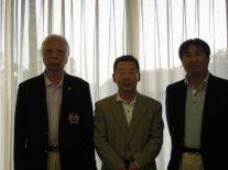 ベスグロ、左から3位の酒井さん、1位の知久さん、2位の長谷川さん