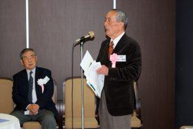 ご挨拶いただいた田中同窓会本部副会長と菊田東葛春高会会長