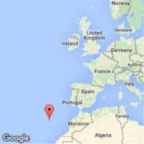 アフリカに近い大西洋 緯度は宮崎・鹿児島と同じ