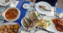 アジの唐揚げ・エビチリ・魚介のおじやなど普通に食べられます