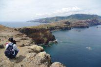 岬からマデイラ島を望む 約300mの崖の上(ポンタ・ド・ロシュト)