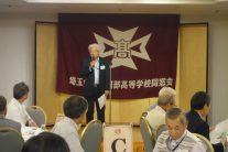 久喜春高会・武井会長の挨拶で総会が始まりました。