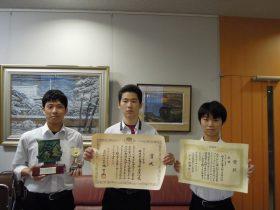 左から前田、小林、芳野くん