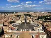 バチカン市国サンピエトロ寺院からローマを望む
