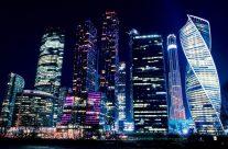 モスクワの高層ビル夜景