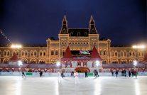 赤の広場(冬の夜景)