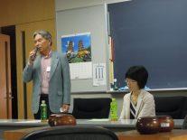 岡田正新会長と青木喜久代八段