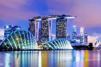 アジアの中心都市となったシンガポールの夜景