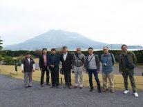 仙厳園では見事な桜島がお目見え