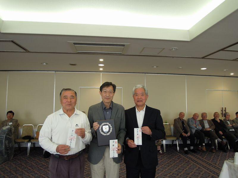 左から3位の増田さん、優勝の原田さん、2位の斎藤さん