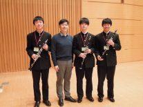クラリネット奏者松本健司さんから指導を受ける